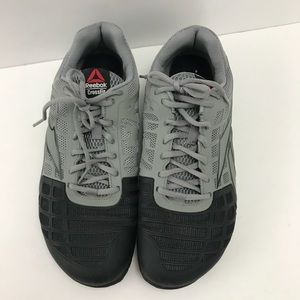 Reebok cros fit CF7 GRAY BLACK SNEAKERS EUC